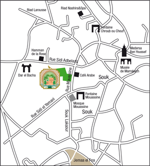 Area map of Le Jardin Secret Marrakech